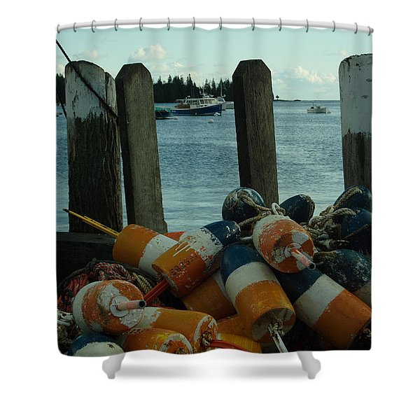 End Of Season At Owls Head Shower Curtain