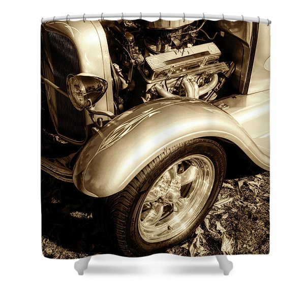 End Of Season Bw Shower Curtain