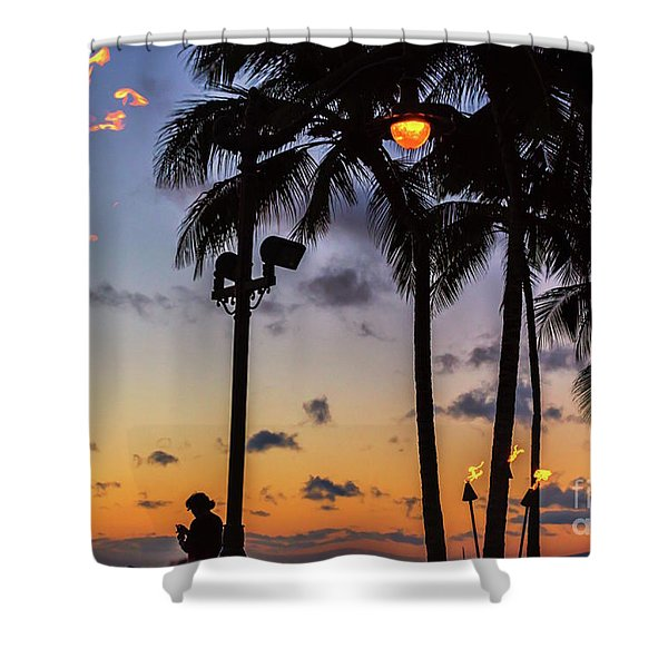 End Of The Beutiful Day.hawaii Shower Curtain