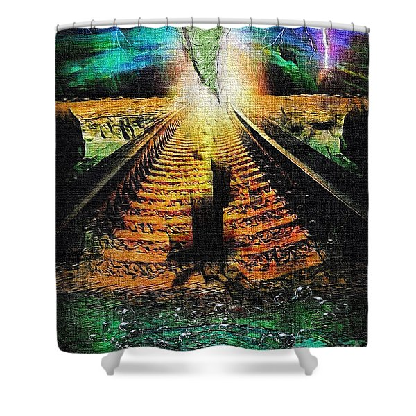 End Of The Cliff Shower Curtain
