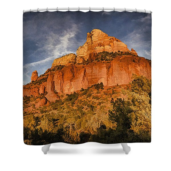 End Of The Day Pano Pnt Shower Curtain
