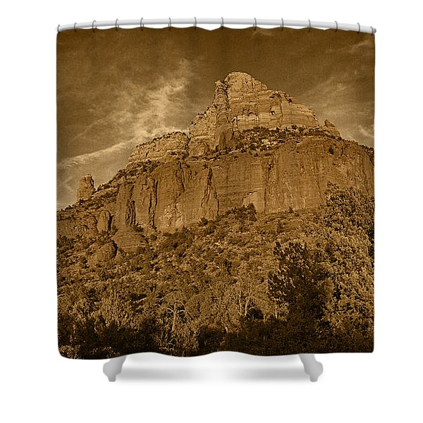 End Of The Day Pano Tnt Shower Curtain