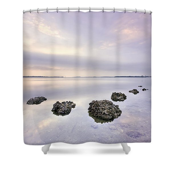Endless Echoes Shower Curtain