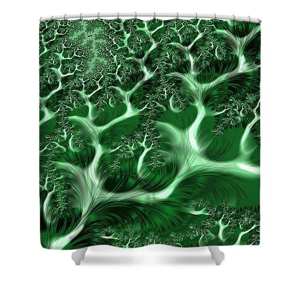 Endless Emerald Vines Shower Curtain