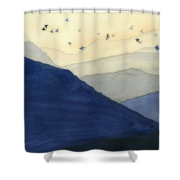 Endless Mountains Left Panel Shower Curtain