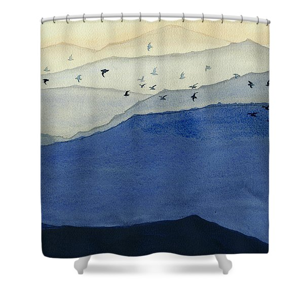 Endless Mountains Right Panel Shower Curtain