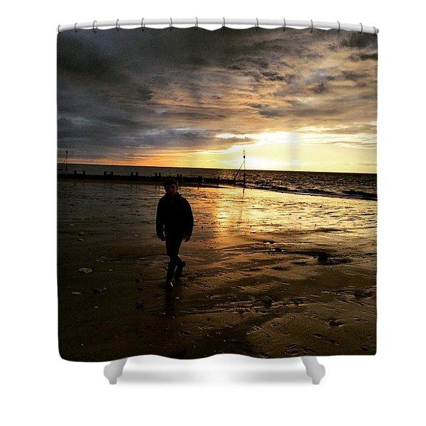 #endless Sky #sunset #norfolk #north Shower Curtain