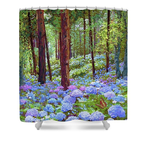 Endless Summer Blue Hydrangeas Shower Curtain