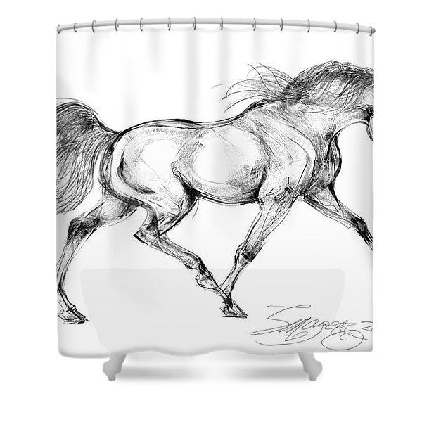 Endurance Horse Shower Curtain