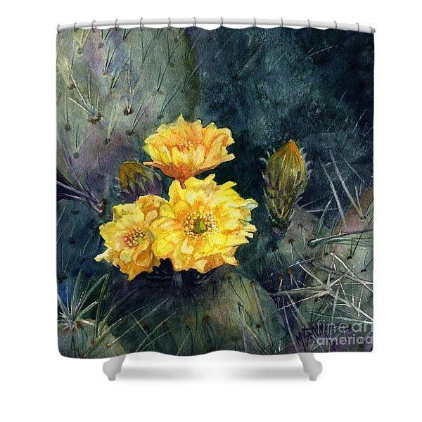 Engelmann Prickly Pear Cactus Shower Curtain