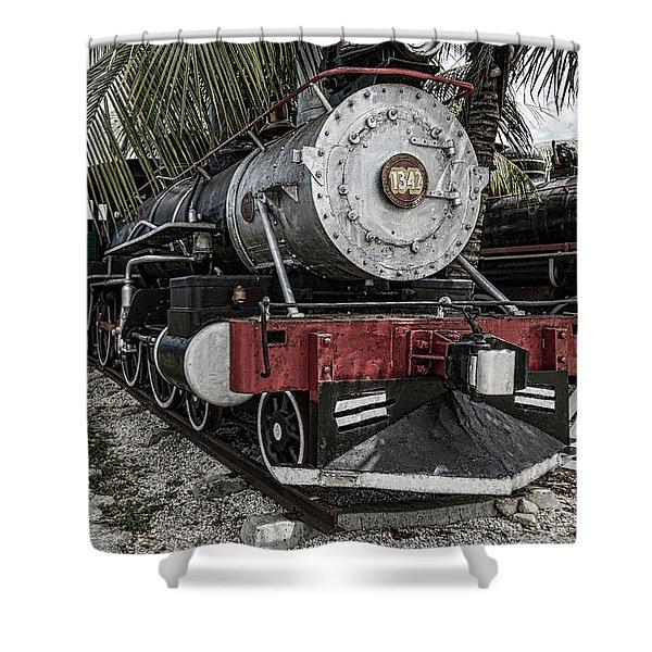 Engine 1342 Parked Shower Curtain