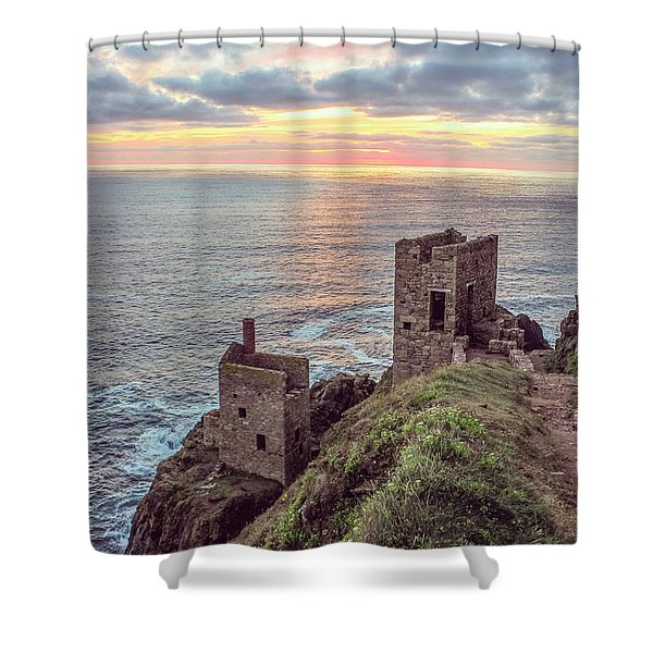 Engine Houses At Crown Mines Shower Curtain