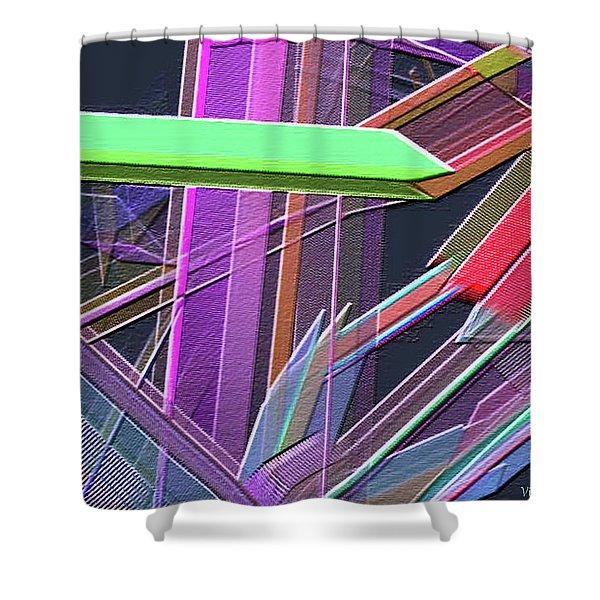 Shower Curtain featuring the digital art Engineer's Office by Visual Artist Frank Bonilla