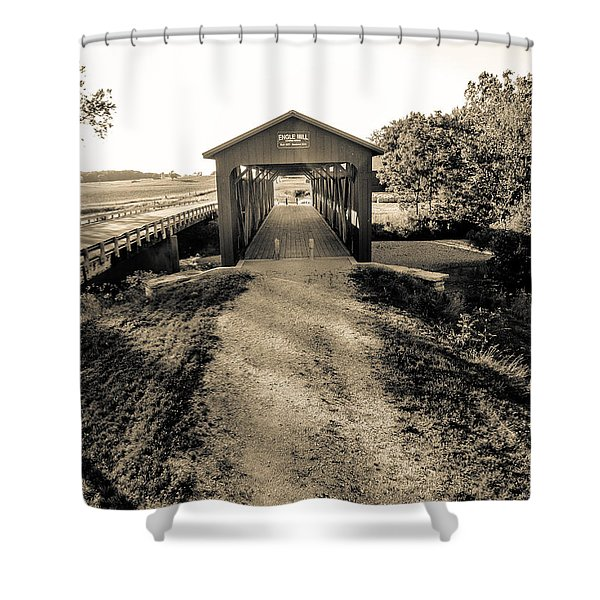 Engle Mill Covered Bridge Shower Curtain