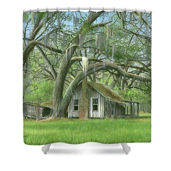 English Eddie Oaks  Shower Curtain