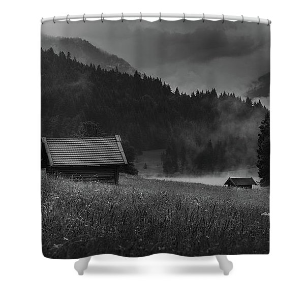 Enigmatic Alps Shower Curtain