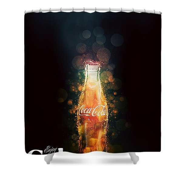 Enjoy Coca-cola With Bubbles Shower Curtain