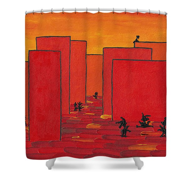 Enjoy Dancing In Red Town P2 Shower Curtain