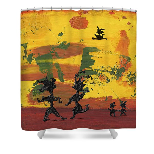 Enjoy Dancing Shower Curtain