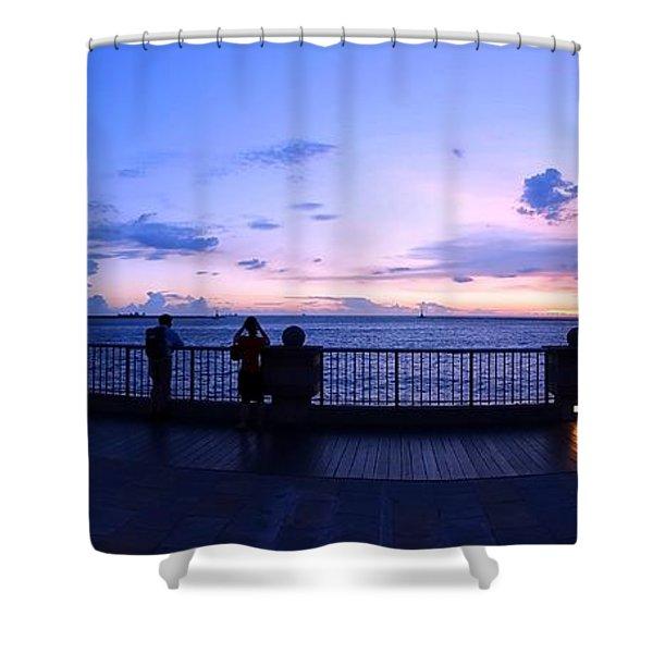 Enjoying The Beautiful Evening Sky Shower Curtain
