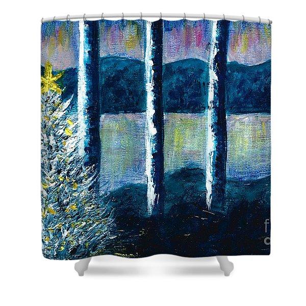 Enlightened Forest  Shower Curtain
