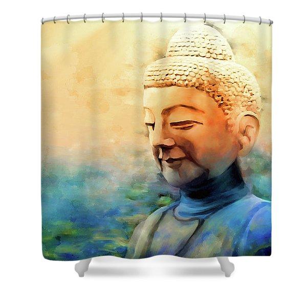 Enlightened One Shower Curtain