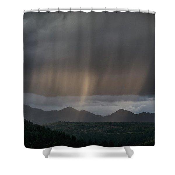 Enlightened Shafts Shower Curtain