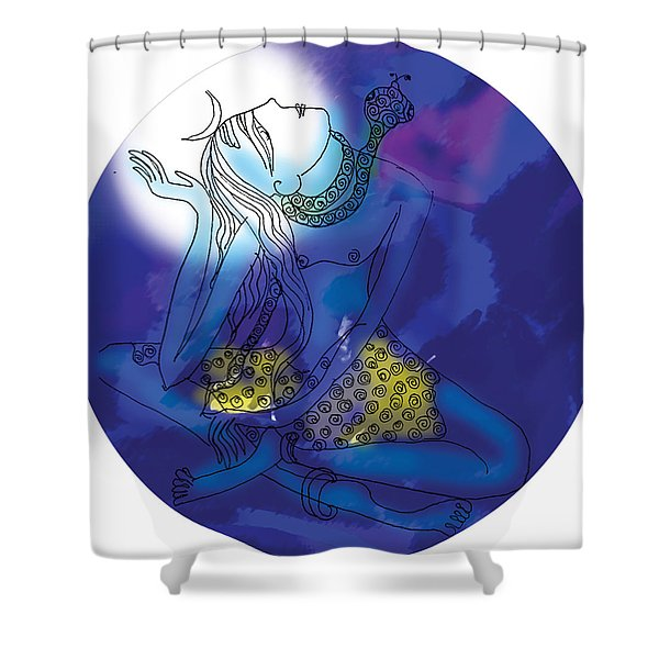 Enlightened Shiva  Shower Curtain