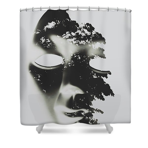 Enlightenment Within Shower Curtain