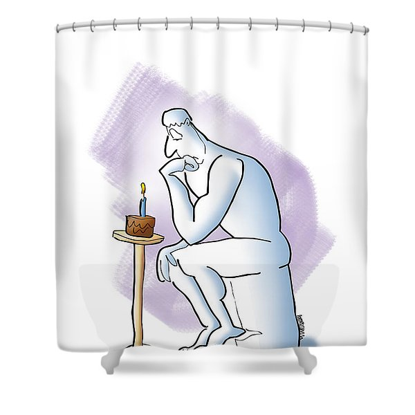 Enough Thinking Shower Curtain