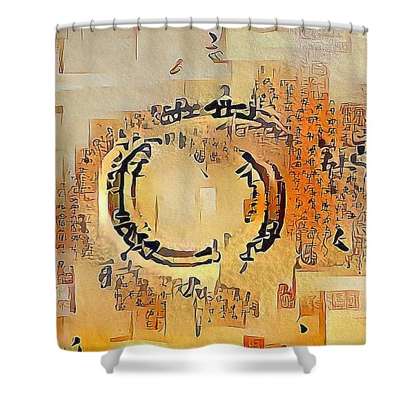 Enso Calligraphy  Shower Curtain