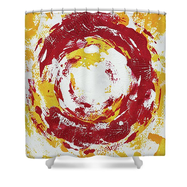 Enso Of Poppy Shower Curtain