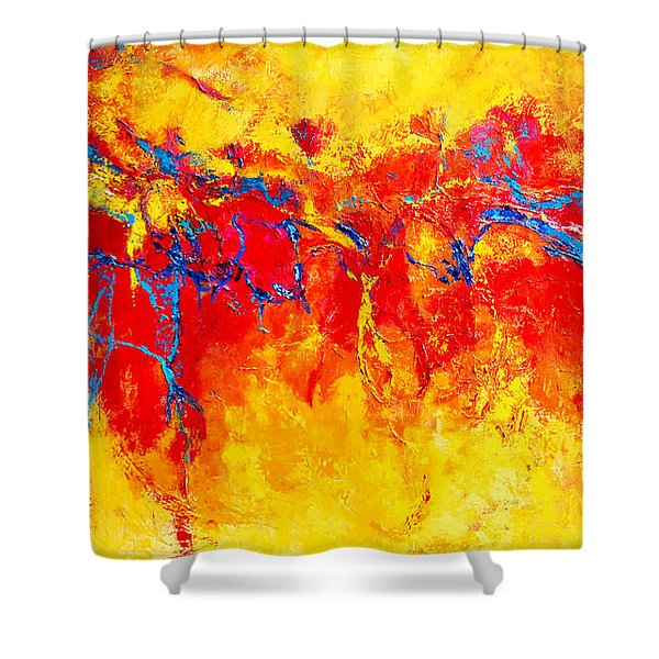 Entangled No. 2 A Reflection Of Life Shower Curtain