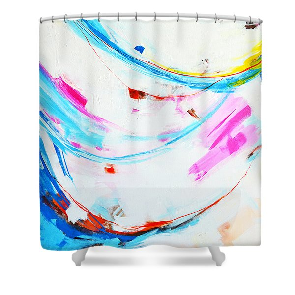 Entangled No. 8 - Left Side - Abstract Painting Shower Curtain