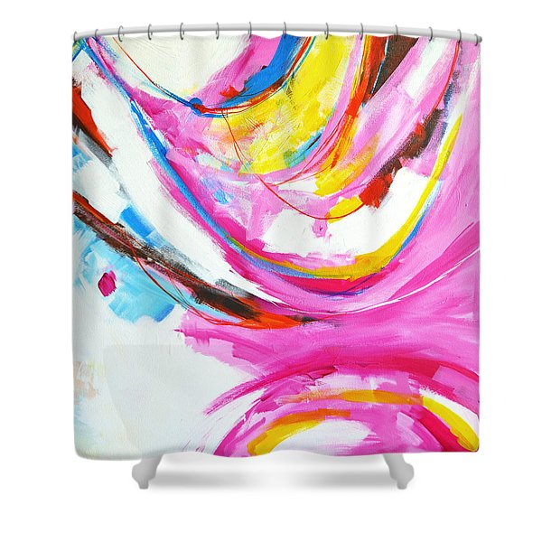 Entangled No. 8 - Right Side - Abstract Painting Shower Curtain