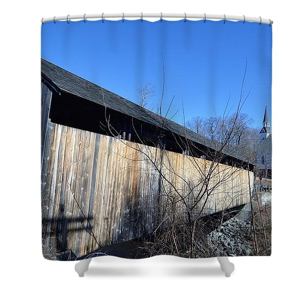 Enter Here Shower Curtain