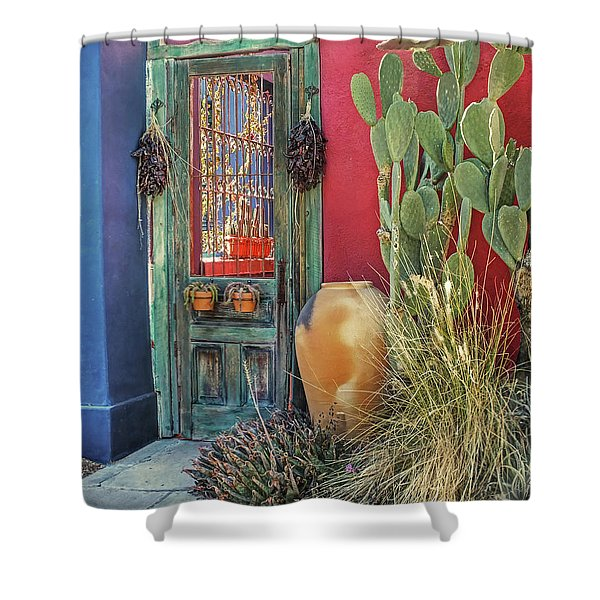 Enter - You Are Always Welcome Shower Curtain