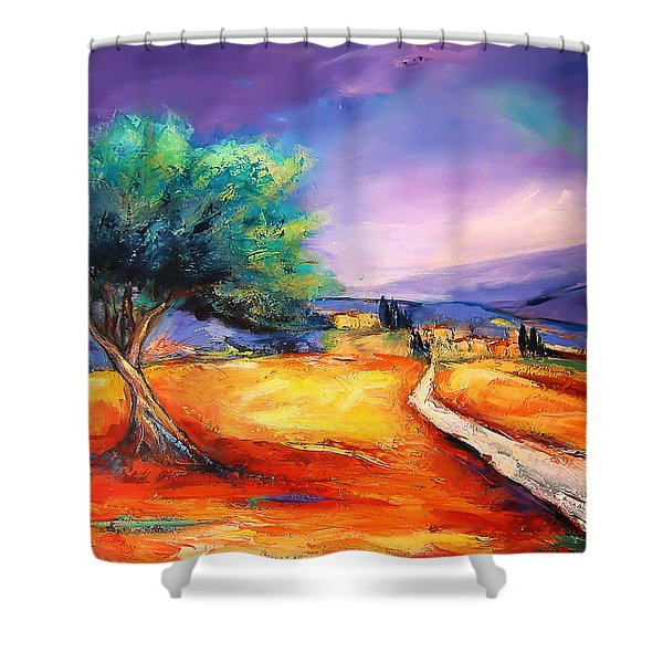 Entering The Village Shower Curtain