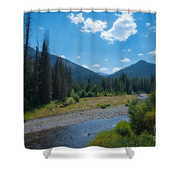 Entering Yellowstone National Park Shower Curtain