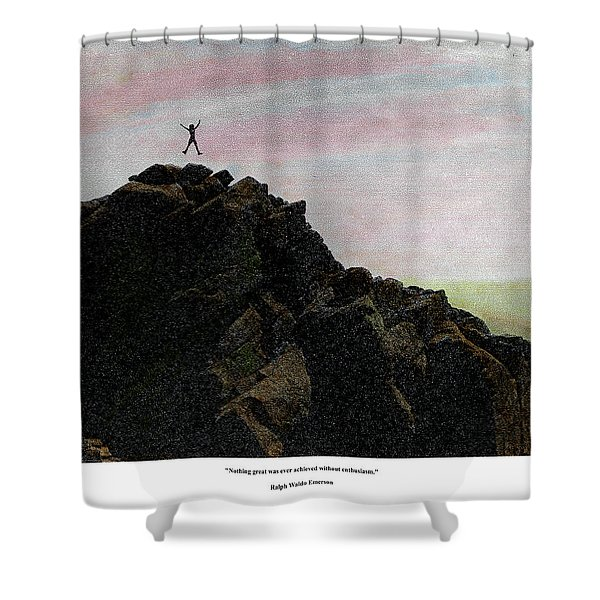 Enthusiasm Poster Shower Curtain