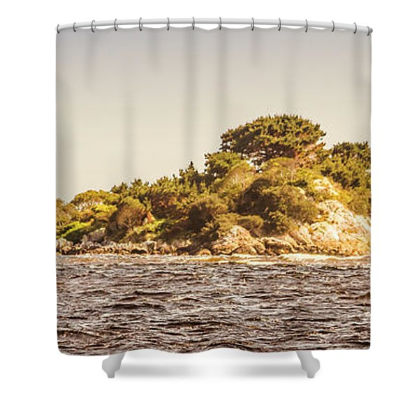 Entrance Island Lighthouse, Hells Gates Shower Curtain