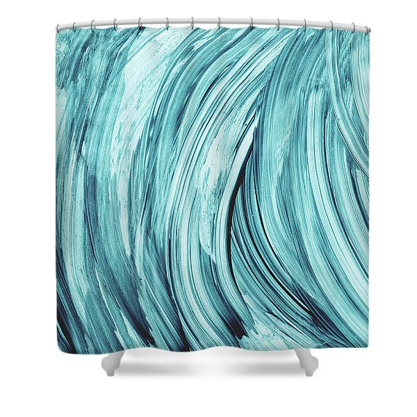 Entranced 2- Abstract Art By Linda Woods Shower Curtain