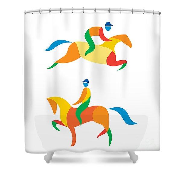 Equestrian Icon Shower Curtain