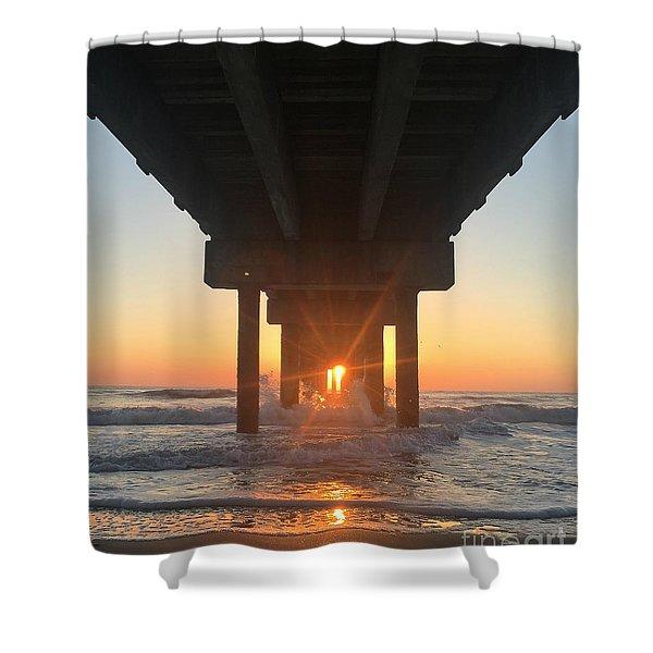Equinox Line Up Shower Curtain