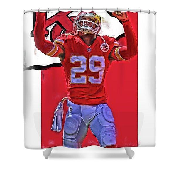 Eric Berry Kansas City Chiefs Oil Art Shower Curtain