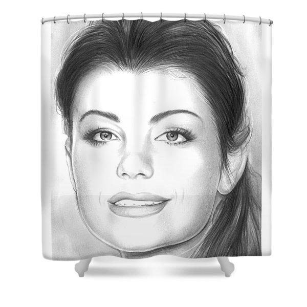 Erica Durance Shower Curtain