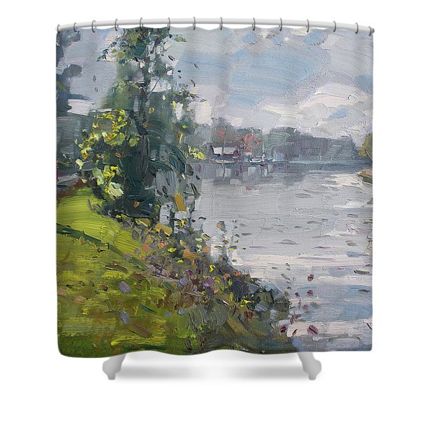 Erie Canal Shower Curtain