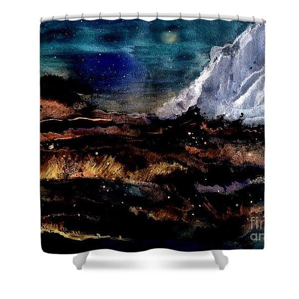 Eruption Shower Curtain