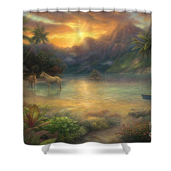Escape To Tranquility Shower Curtain