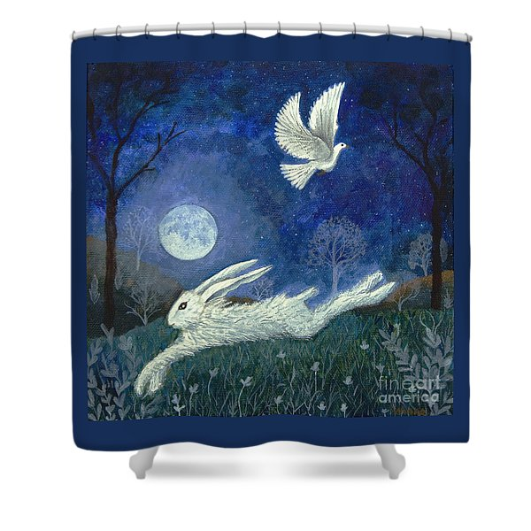 Escape With A Blessing Shower Curtain